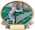 3D Oval Tennis M 3D Oval Resin Trophy Awards