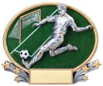 3D Oval Soccer M 3D Oval Resin Trophy Awards