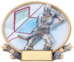 3D Oval Hockey M 3D Oval Resin Trophy Awards