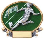 3D Oval Soccer F 3D Oval Resin Trophy Awards