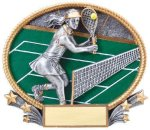 3D Oval Tennis F 3D Oval Resin Trophy Awards