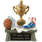 Vintage Trophy Award Basketball 3D Resin Trophy Awards