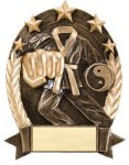 5 Star Oval Karate 5 Star Oval Resin Trophy Awards