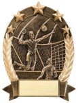 5 Star Oval Volleyball 5 Star Oval Resin Trophy Awards