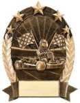 5 Star Oval Go-Kart 5 Star Oval Resin Trophy Awards