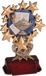 Lamp of Learning - Starburst Resin Trophy Academic & Scholastic Awards
