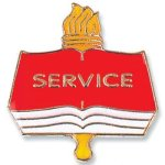 Service Lapel Pin Academic & Scholastic Awards