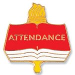 Attendance Lapel Pin Academic & Scholastic Awards