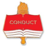 Conduct Lapel Pin Academic & Scholastic Awards