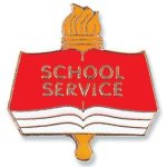 School Service Lapel Pin Academic & Scholastic Awards