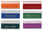Pre-Printed Horizontal Badge Ribbon Badge Ribbons