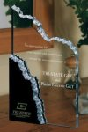 Mountain Peak Black and Clear Acrylic Award Black Acrylic