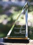 Spectacular Slant Color Accented Acrylic Award Black Acrylic