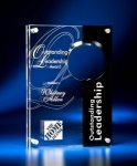 Circle Cutout Clear and Black Acrylic Award Black Acrylic