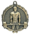 Wreath Male Weightlifting Medals Body Building/Weight Lifting Awards