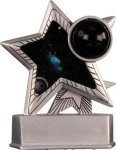 Bowling - Silver Star Motion Resin Trophy Bowling Awards