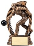 Antique Bronze and Gold Bowling,  Female Award Bowling Awards