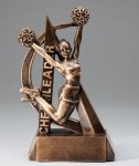 Cheerleader Ultra Action Sports Resin Trophy Cheerleading  Awards