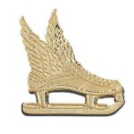 Winged Ice Skate Chenille Pin Chenille & Scholastic Pins