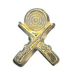 Crossed Rifle Chenille Pin Chenille & Scholastic Pins