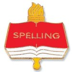 Spelling Lapel Pin Chenille & Scholastic Pins
