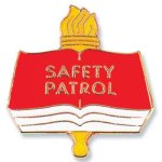 Safety Patrol Lapel Pin Chenille & Scholastic Pins