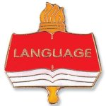 Language Lapel Pin Chenille & Scholastic Pins