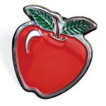 Apple Lapel Pin Chenille & Scholastic Pins