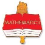Mathematics Lapel Pin Chenille & Scholastic Pins