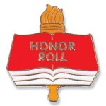 Honor Roll Lapel Pin Chenille & Scholastic Pins