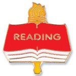 Reading Lapel Pin Chenille & Scholastic Pins