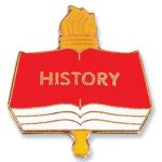 History Lapel Pin Chenille & Scholastic Pins