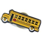 School Bus Lapel Pin Chenille & Scholastic Pins