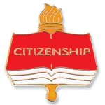 Citizenship Lapel Pin Chenille & Scholastic Pins