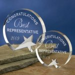 Freestanding Crystal Circle Awards