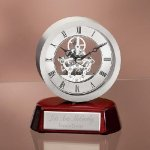 Exposed Gear Desk Clock Circle Awards