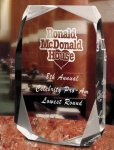 Square Multi-Faceted Clear Acrylic Award Clear Acrylic Awards