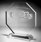 Clear Octagonal Acrylic Award Clear Acrylic Awards