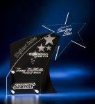 Clear Star with Black Accent Acrylic Award Contemporary Acrylics