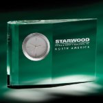 Zilo Desk Clock Crystal Awards