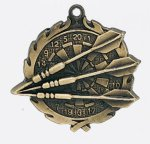 Wreath Dart Medal Darts Awards