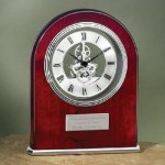 Arch Clock with Exposed Gears in Chrome Desk Clocks