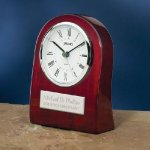 Piano Wood Clock with Curved Profile Desk Clocks