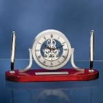 Exposed Gear Clock Pen Desk Set Desk Clocks