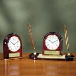 Desk Clock - Domed Desk Pen Sets
