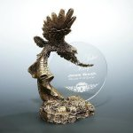 Sunset Landing Eagle Sculptures and Resins
