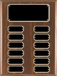 Walnut Finish Perpetual Plaque Economical Walnut Finish Perpetual Plaques