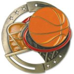 Basketball Enamel Medal Awards