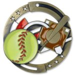 Softball Enamel Medal Awards