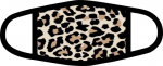 Cheetah Print -  3-Layer Full Color Face Mask w/ Black Trim Face Masks